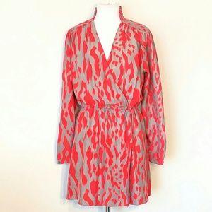 PARKER Silk Wrap Dress Size Sm